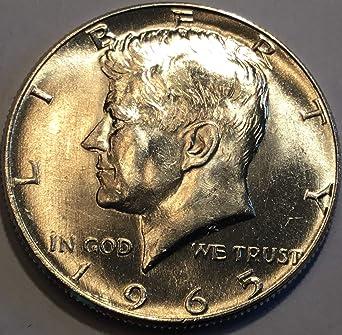 1965 D Kennedy Half Dollar Silver OBR Nearly Superb Gem Brilliant Uncirculated