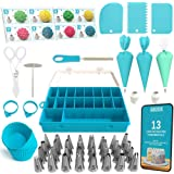 Cake Decorating Tools 100-Piece Piping Bags and Tips Set Cake Decorating Supplies with 32 Piping Tips Cake Decorating…