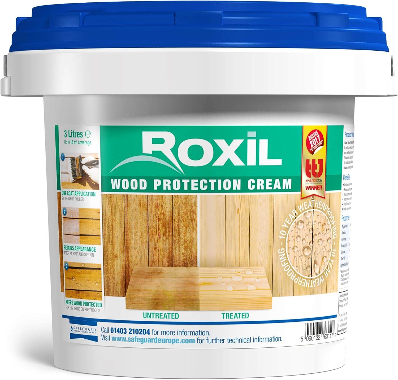 Roxil Barniz Sintético Impermeabilizante Transparente para Madera Exterior de Alta Calidad - 3 Litros: Amazon.es: Bricolaje y herramientas