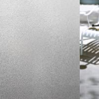 """Coolzon Window Film Frosted Glass Stickers Decorative Self Adhesive Static Cling For Privacy Anti-Uv 17.7""""X78.7""""(45X200cm)"""