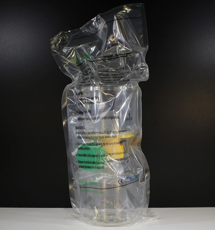 0.22 um PES Filter 500 mL Bottle Top Vacuum Filter /& Bottle Individually Packaged PS Bottle Sterile