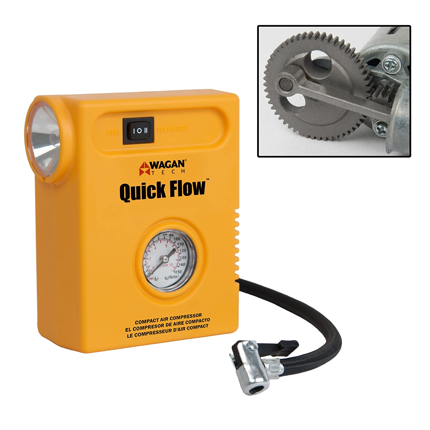 Amazon.com : Quick Flow Wagan Tech Compact Air Compressor : Garden & Outdoor