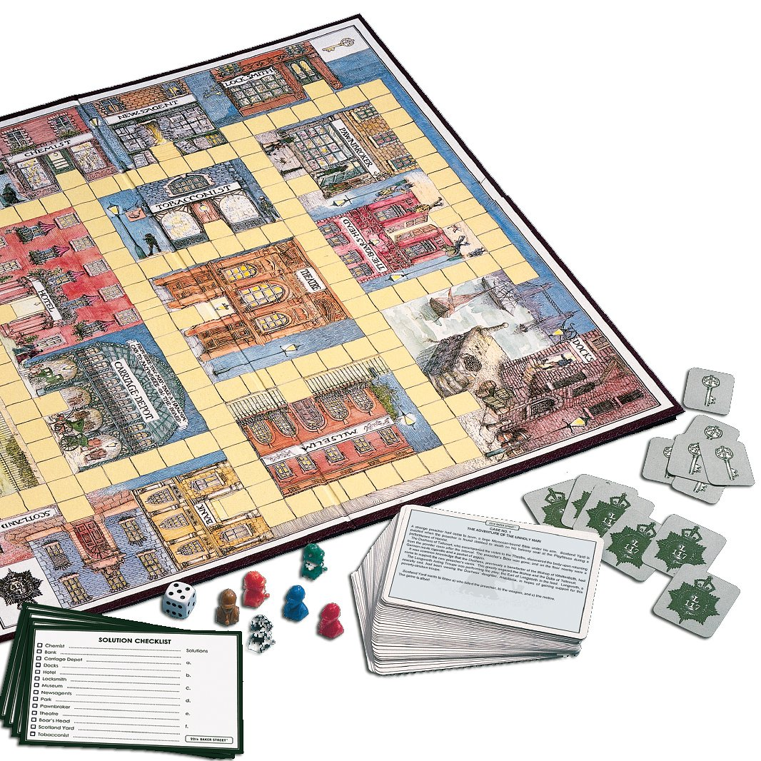 221B Baker Street Game Gibsons Games 5012269003291 Family Games Games_and_Puzzles