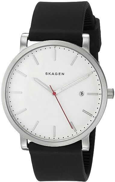 6b36f5567d70 Skagen Reloj de silicona de los hombres SKW6340 Hagen 40 x 40 mm Negro  blanco  Amazon.es  Relojes