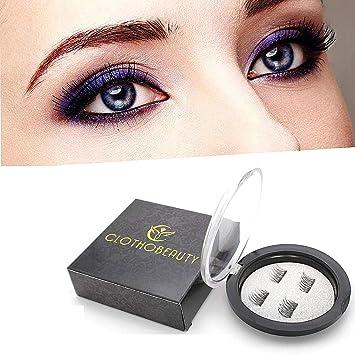 d644ad82bed Medium Longer False MAGNETIC Eyelashes by CLOTHOBEAUTY, Cruelty Free, Dual  Magnets, No Glue