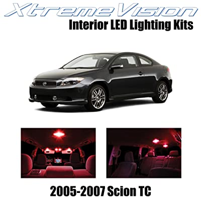 XtremeVision Interior LED for Scion TC 2005-2007 (10 Pieces) Red Interior LED Kit + Installation Tool: Automotive