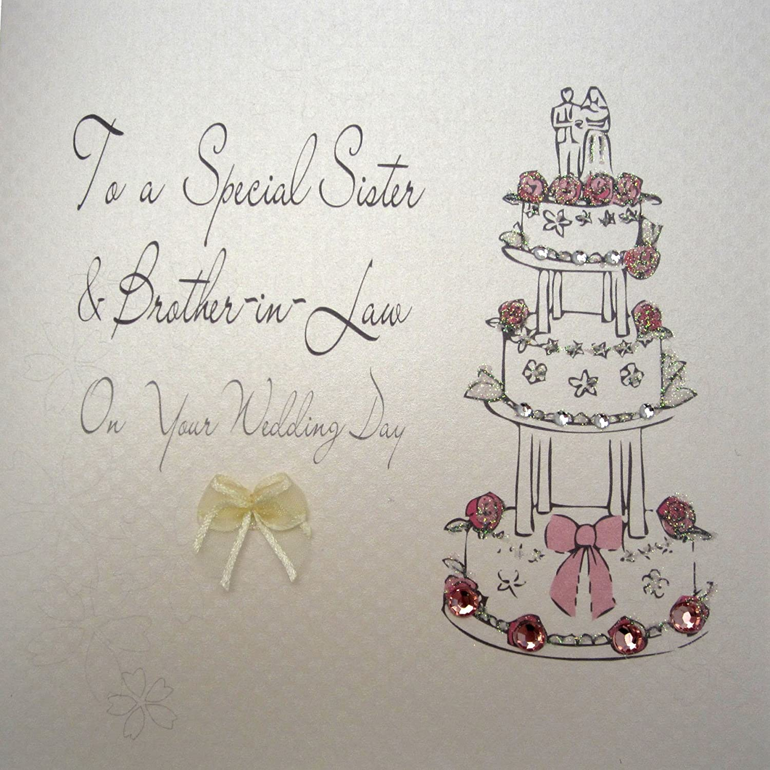 WHITE COTTON CARDS BD26 To A Special Sister and Brother-in-Law Congratulations on Your wedding Day