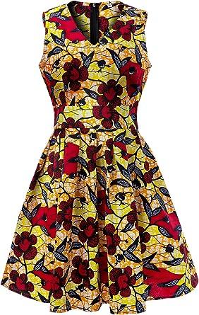 Shenbolen Women African Print Dresses