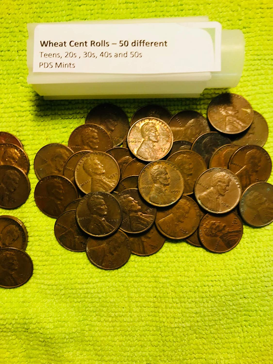 Indian Head Cent SPECIAL Mixed Lincoln Wheat Penny Roll  P-D-S  mint marks