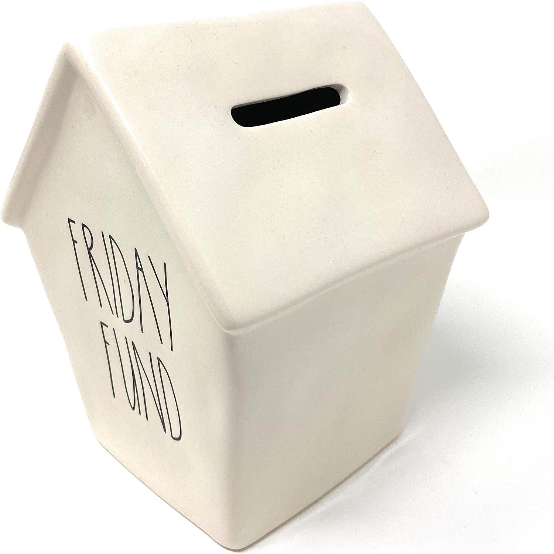Rae Dunn Friday Fund Piggy Coin Money Bank Birdhouse Style Design