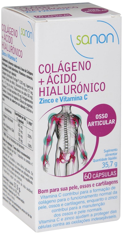 Sanon Colágeno y Ácido Hialuronico - 2 Paquetes de 60 Cápsulas: Amazon.es: Salud y cuidado personal