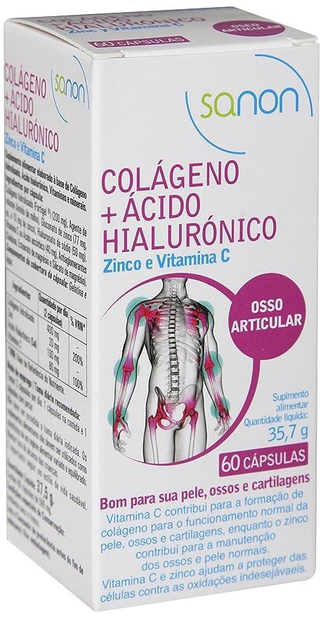 Sanon Colágeno y Ácido Hialuronico - 2 Paquetes de 60 Cápsulas