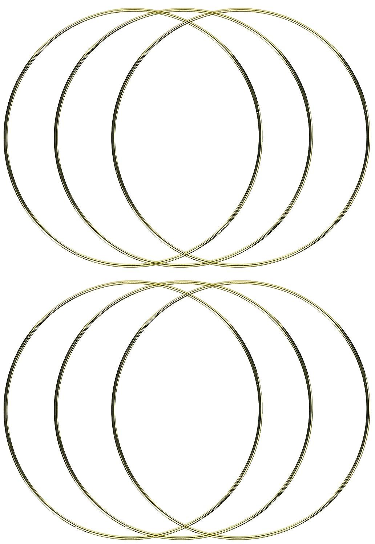 Darice Gold Tone Metal Macrame Ring 12 Inches