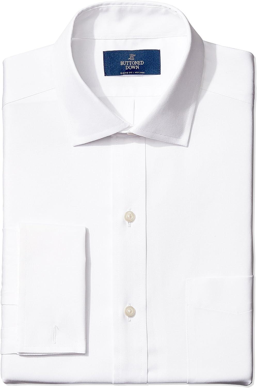Amazon Brand - BUTTONED DOWN Men's Classic Fit French Cuff Dress Shirt, Supima Cotton Non-Iron, Spread Collar