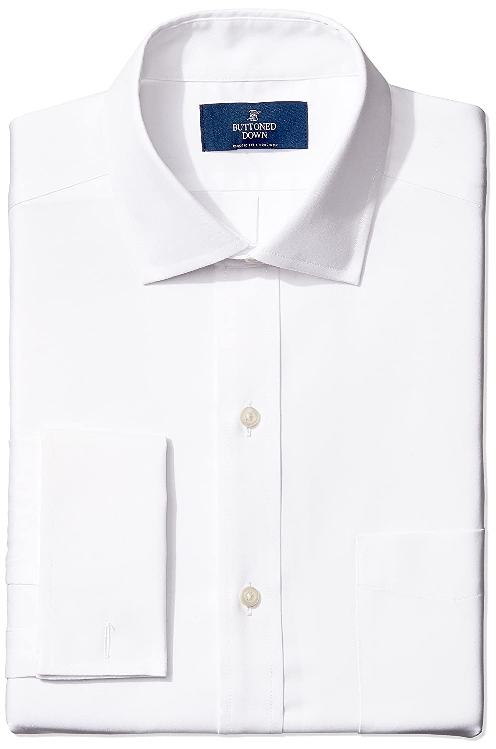 Buttoned Down Men's Classic Fit French Cuff Spread-Collar Non-Iron Dress Shirt MBD30006