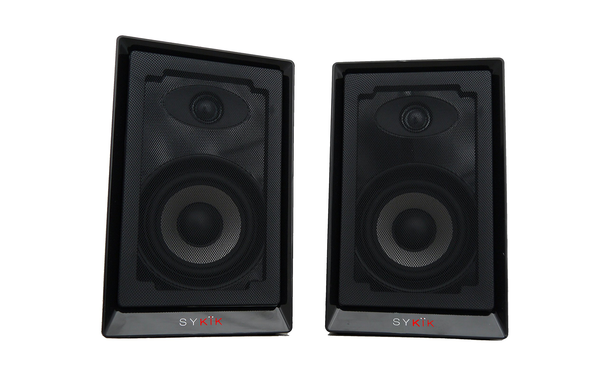 Sykik Pro, SP2551BT Powered Monitor Speakers W/High Definition (HD) Sound and Wireless Bluetooth Connection, Specially Design to Perform with Today's Turntable Systems. (Pair) Sp2551Btbt