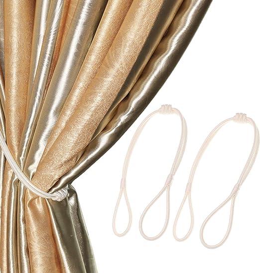 Chictie 1 Pair Vintage Flower Hand Carved Magnetic Tiebacks Ropes Curtain Drapery Holdbacks Artistic Room D/écor for Girls Cafe Bistro Metal Flower Tieback- Gold