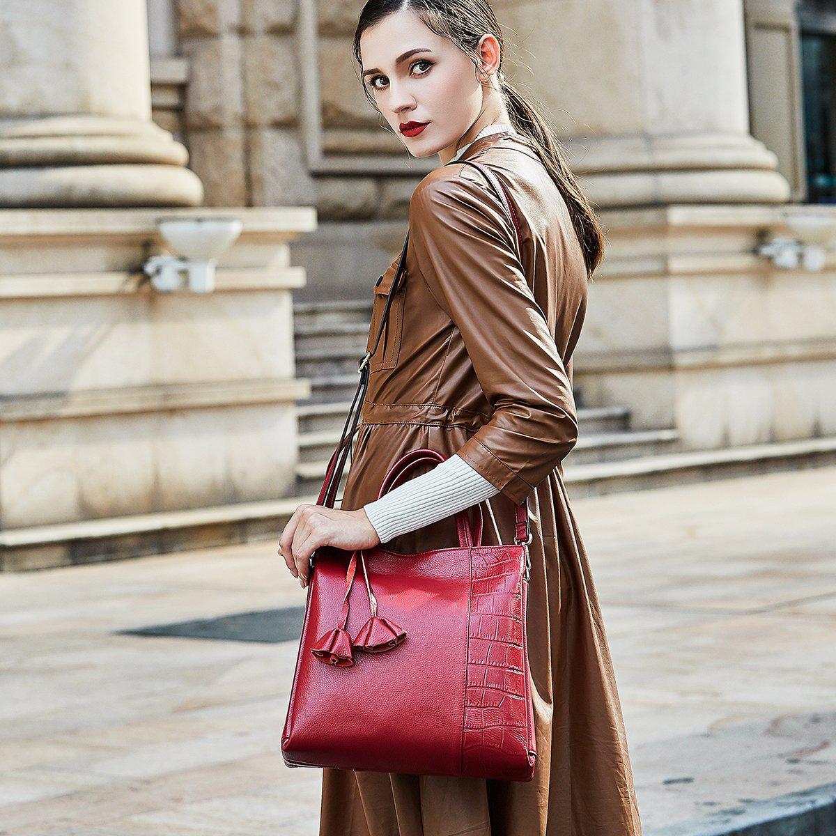634198732269 70% discount on ZOOLER GLOBAL Womens Leather Cowhide Handbag Top ...