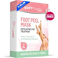 Soft Touch Foot Peel Mask, Exfoliating Callus Remover (2 Pairs per Box) by Soft Touch
