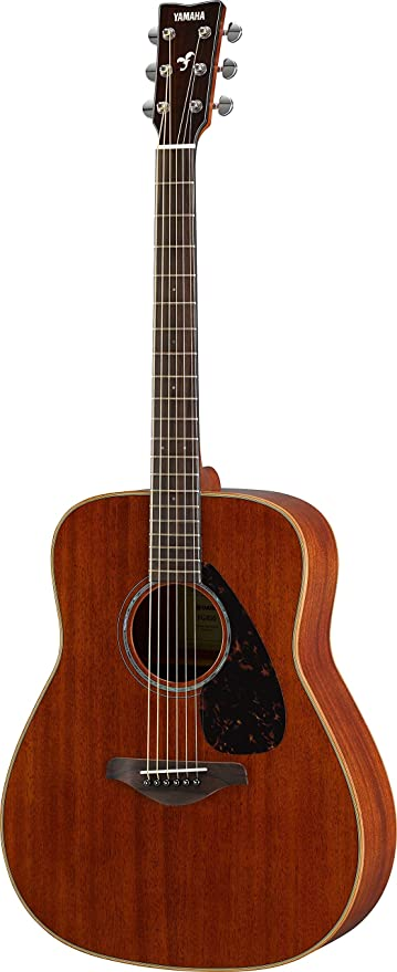 d26b7506e4 Amazon.com: Yamaha FG850 Solid Top Acoustic Guitar, Mahogany ...