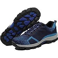 Unisex Hombre Mujer Zapatillas de Seguridad con Punta de Acero Protección Zapatos de Trabajo para Deporte Senderismo…