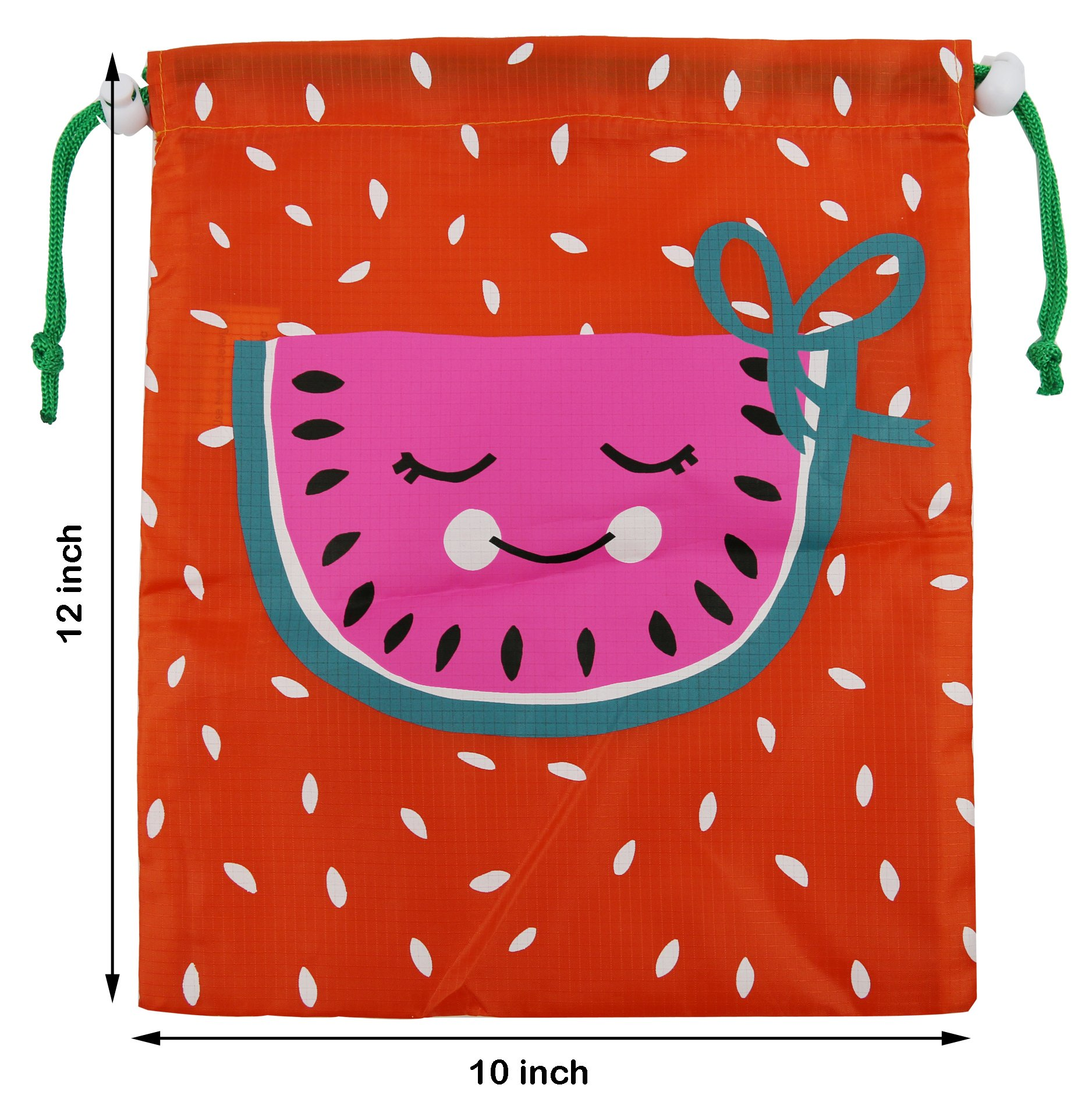 Party Favors Bags 10 Pack 5 Designs, Cartoon Gift Candy Drawstring ...