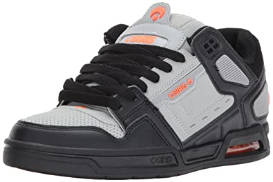 Osiris Men's Peril Skate Shoe, Light Grey/Orange, ...