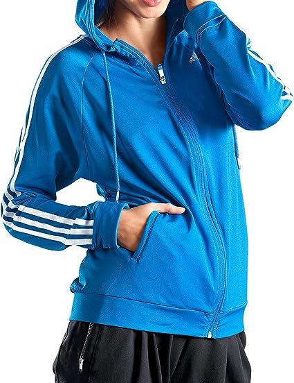 adidas Climacool 3 Stripes Sweat zippé à capuche pour femme