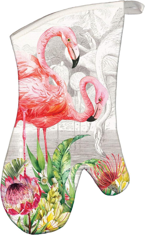 Michel Design Works Oven Mitt, Flamingo