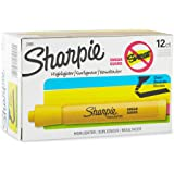 Sharpie 25005 Accent Tank Highlighters, Chisel Tip, Yellow, 12-Count