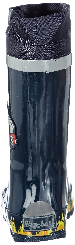 mit Reflektor Rubber Boots Playshoes Boys Gummistiefel Feuerwehr aus Naturkautschuk