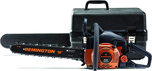 Remington 41AY4218983 RM4218CS 42cc Full Crank 2-Cycle Gas Powered Chainsaw 18-Inch Bar, Automatic Oiler, and Low Kickback Chain, 42cc-18-Inch, Orange