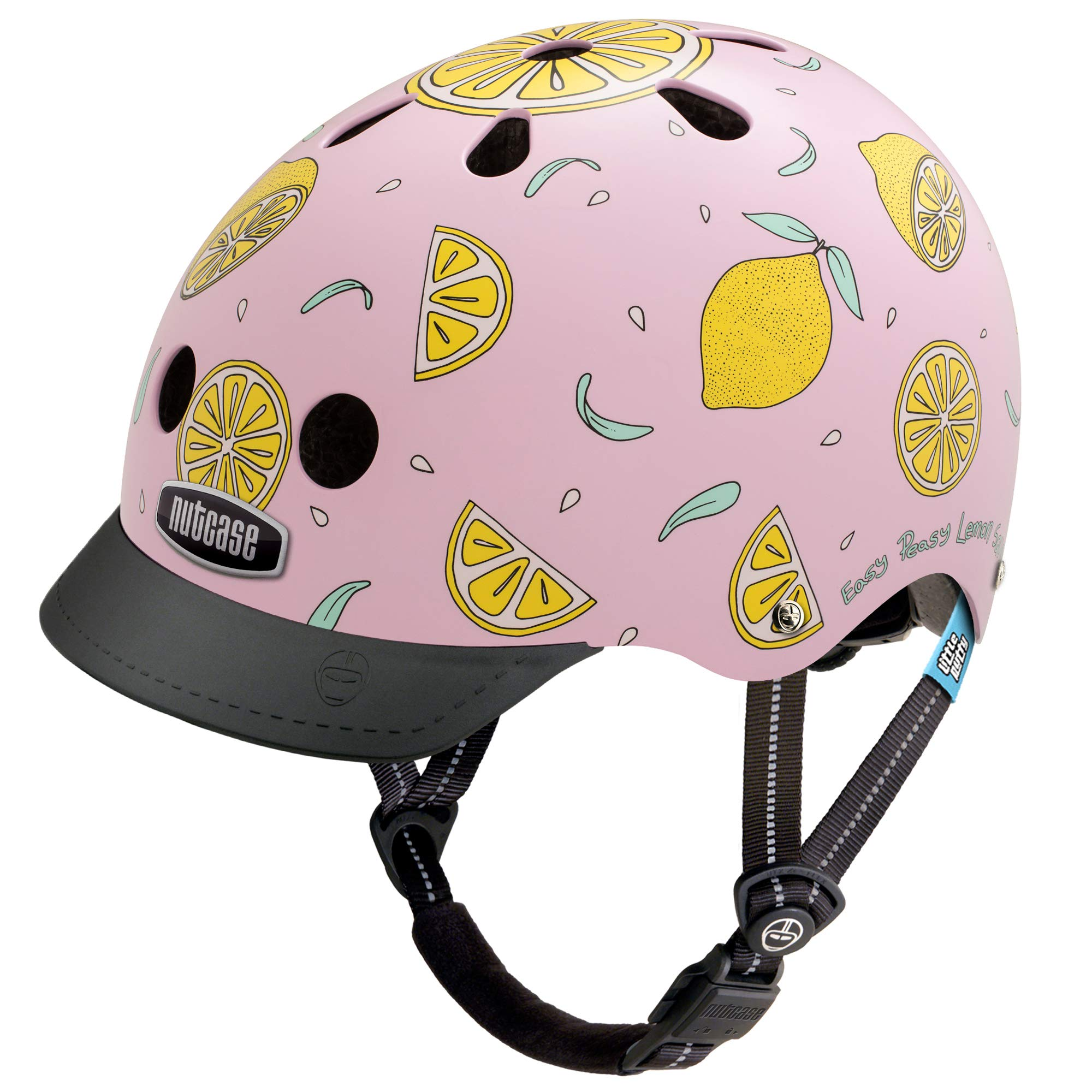 Nutcase Little Nutty Bike Helmet for Kids,Pink Lemonade,X-Small