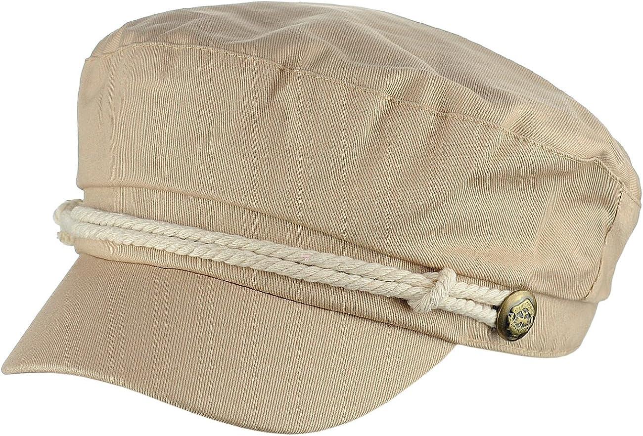 2019 Men/'s Summer Cotton Greek Fisherman Sailor Fiddler Driver Hat Flat Cap