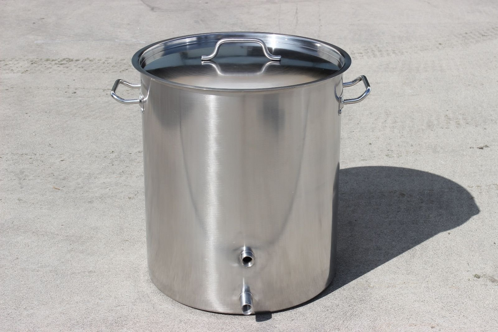 CONCORD Stainless Steel Home Brew Kettle Triply Bottom w/ 2 Couplers (Welded On) (60 QT (TRIPLY Bottom))