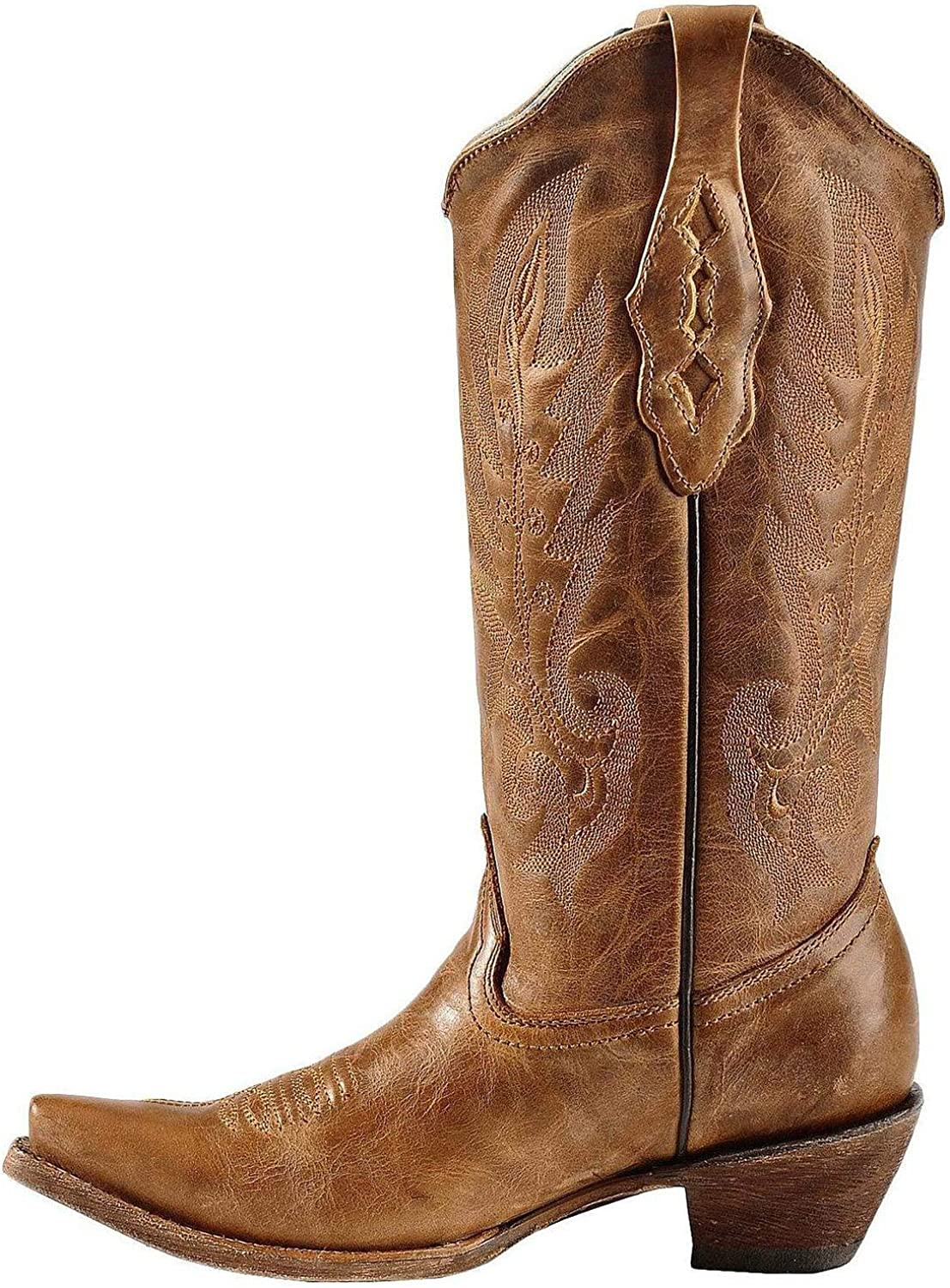 Corral Womens Vintage Leather Cowgirl Boot Snip Toe