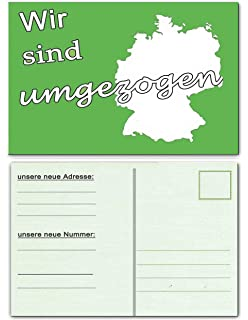 Wir Sind Umgezogen Umzugskarte Postkarten 20 Stuck Umzug Neue