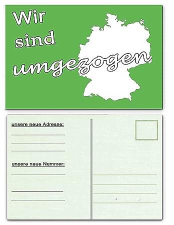 Wir Sind Umgezogen Umzugskarte Postkarten 20 Stück Postkarten Umzug Neue  Adresse Postkarte Benachrichtigung Einladungskarte EInladung