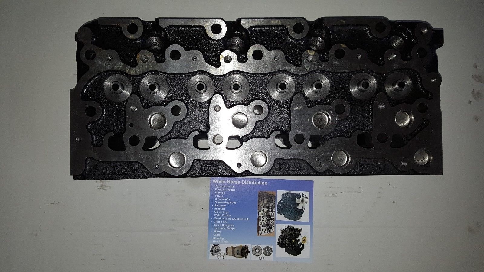 Bobcat B300 Diesel Bare Cylinder Head Part # 6655153 by WHDHD (Image #1)
