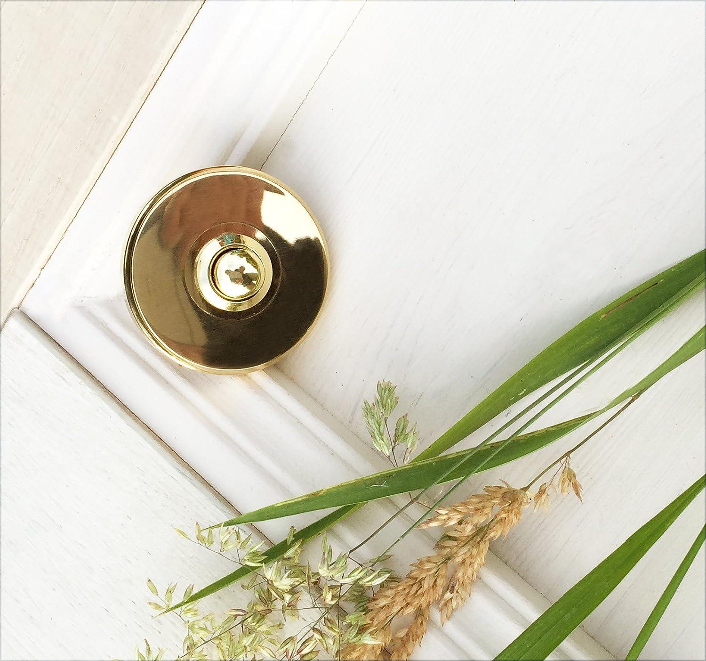 timbre de lat/ón de alta calidad timbre redondo con pulsador Antikas timbre de puerta antiguo