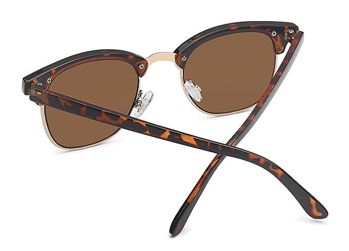 Vintage Sonnenbrille im angesagten 60er Browline-Style mit markantem Halbrahmen, auch für schmalere Gesichter und Kopfformen (leo - ohne Verlauf)