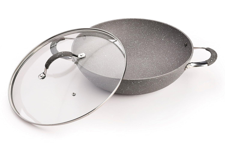 Wokpfanne Wok Fissman Iron Stone Aluminium Induktion 30cm, 32 Cm, Grˆfle  Topf U0026 Pfannen:30cm: Amazon.co.uk: Kitchen U0026 Home