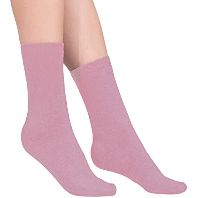100% Cashmere Socks - Pure Cashmere Socks for Women (Light Pink, L) at Amazon Women's Clothing store