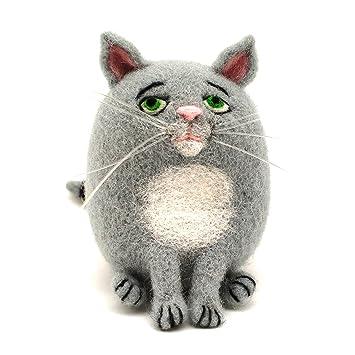 94cf1b251e67c Artec360 Fat Cat aguja fieltro Kits para principiantes con lana merino  Tutorial de fotos 2  quot