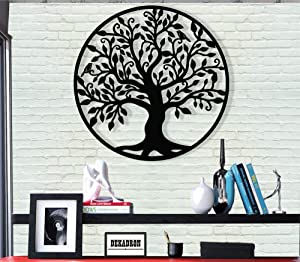 DEKADRON Metal Wall Art - Tree of Life - Family Tree - 3D Wall Silhouette Metal Wall Decor Home Office Decoration Bedroom Living Room Decor Sculpture (23