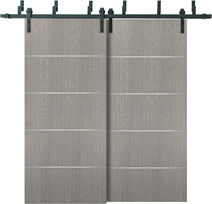 Puertas correderas de granero con herrajes de 2 m | Planum 0020 ...