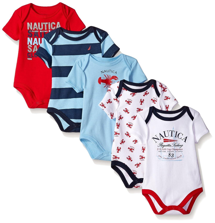 Nautica Baby Boys' 5 Pack Bodysuits N086033Q-070615-I.75