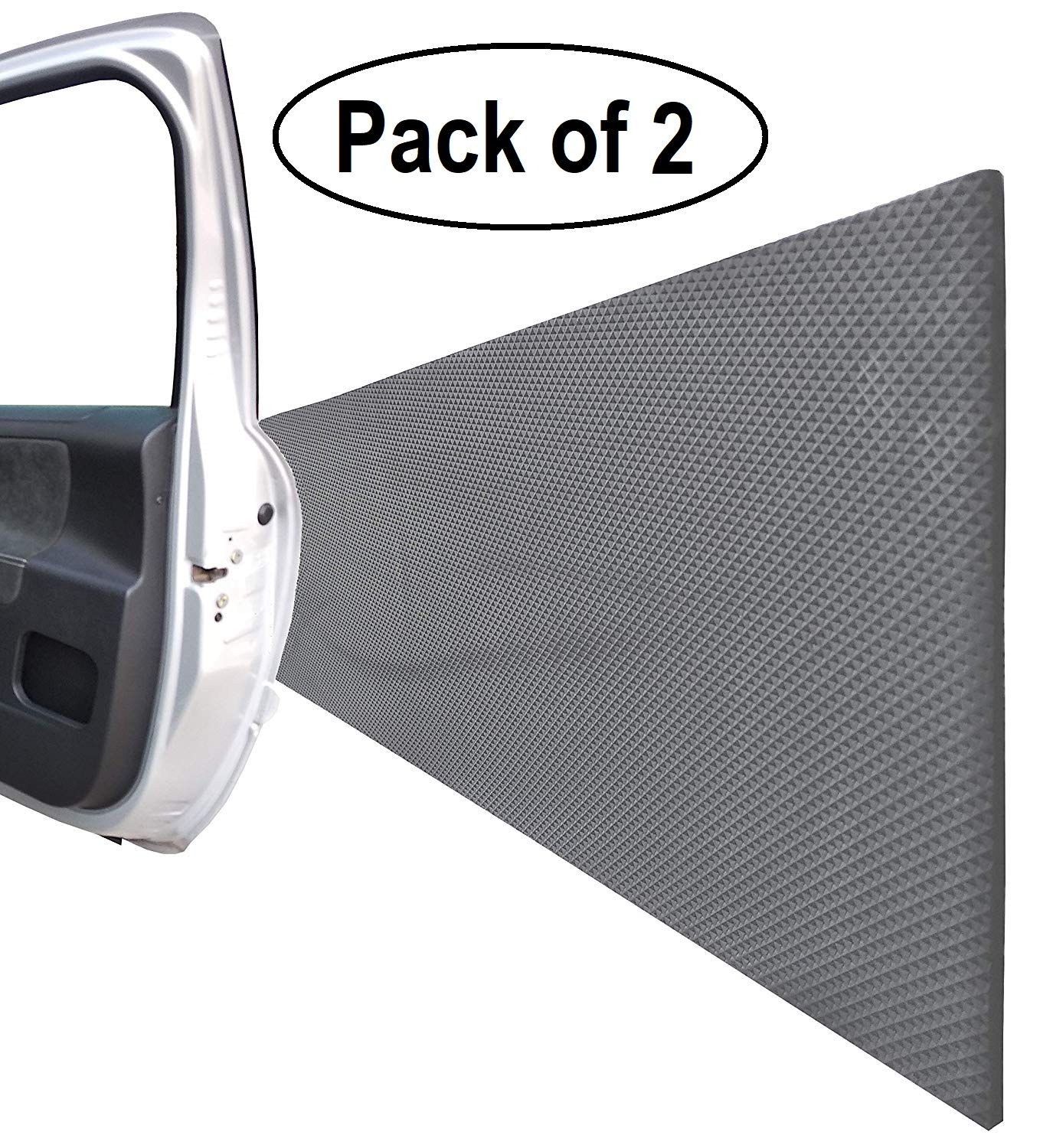 Garage Wall Protector for Car Doors, Self Adhesive and Thick Foam Guard Bumper, for Indoor or Outdoor use, Dimensions 79''x 8''x 0.2'', Black Color (Pack of 2)