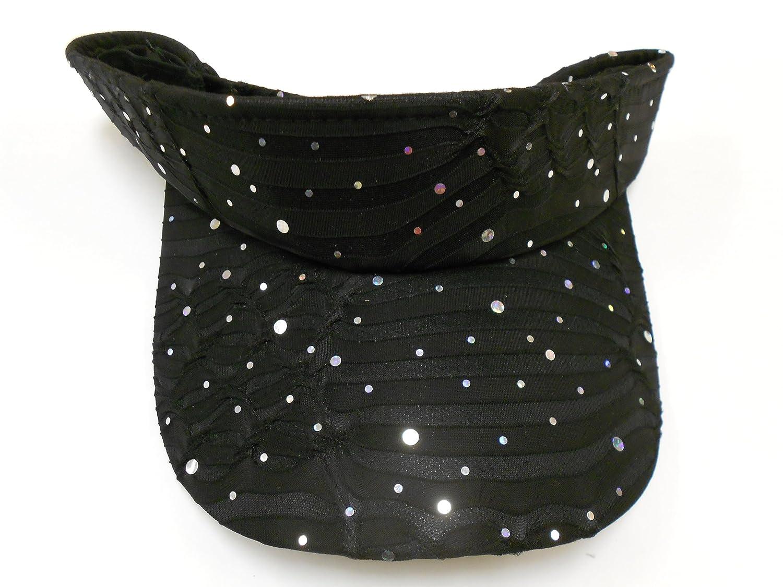 Black Glitter Visor