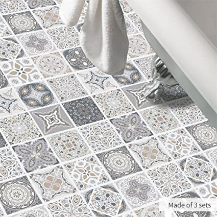 Groovy Amazon Com Amazingwall Portuguese Tiles Floor Sticker Anti Home Remodeling Inspirations Basidirectenergyitoicom